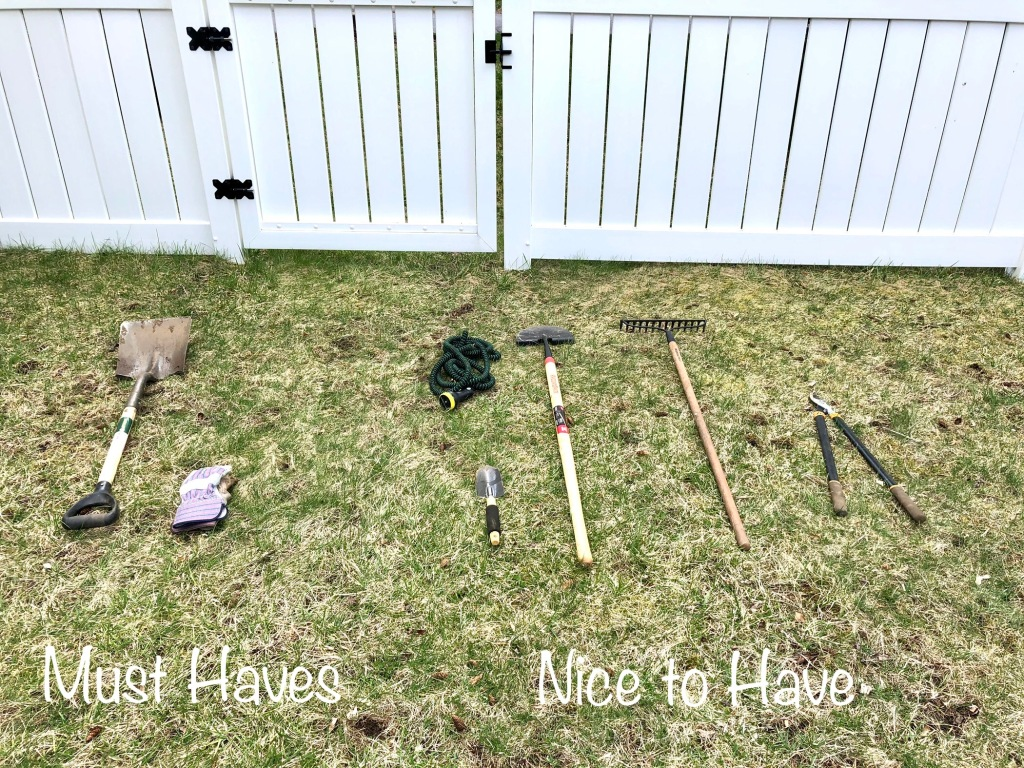 Image of must have and nice to have tools for edging your garden