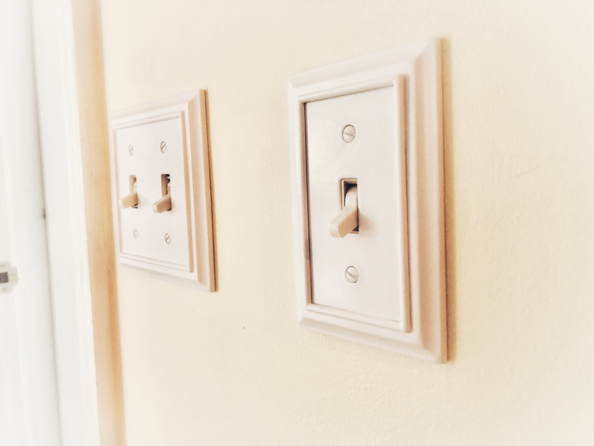 Wall plate cover in architectural wood